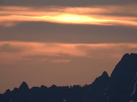 Sunset over the Valhallas