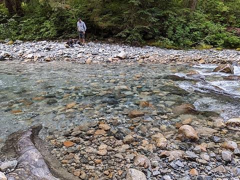 Knee high river crossing