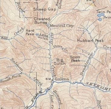 1906 Silver Creek Map
