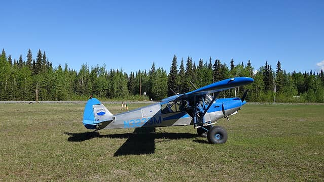 Our plane along the Chistochina landing strip