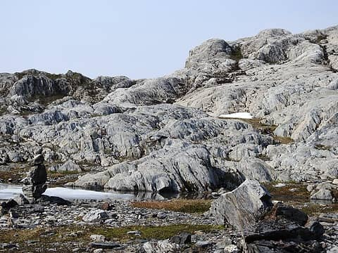 Moonscape cairn