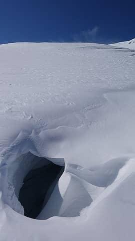 A crevasse we crossed
