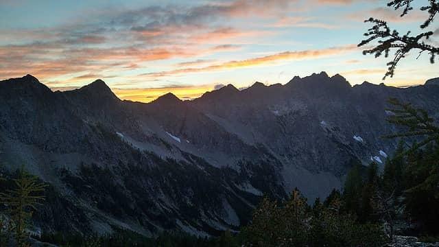 Sunset on genius ridge