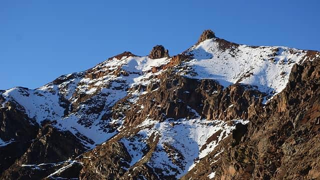 Twin Peaks rugged NE face