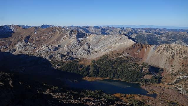 Frances Lake basin and The Goblin