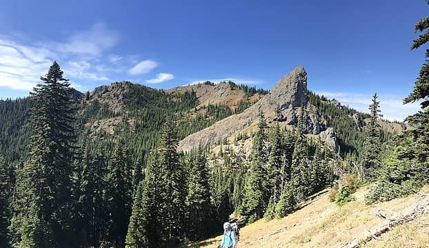 View back of French Tongue and Kachess Ridge