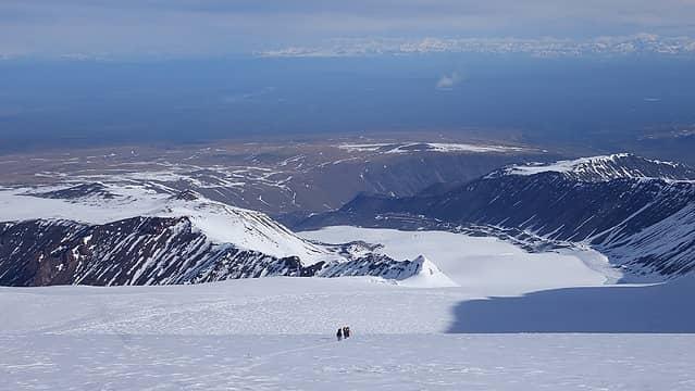 Sheep Glacier far below
