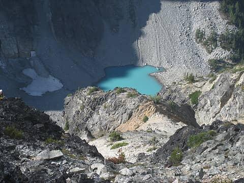 small lake below Arriva
