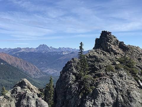 Summit view of Mount Stuart