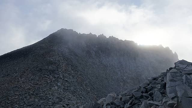 Mount Hinman summit towers