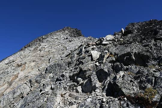 Final ridge to Dumbell summit