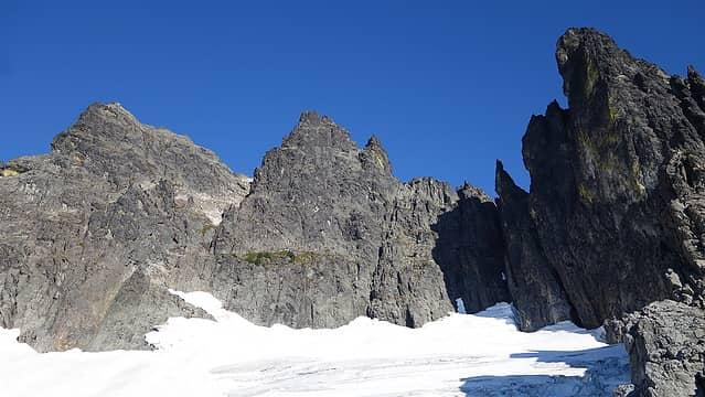 Starting up the upper glacier