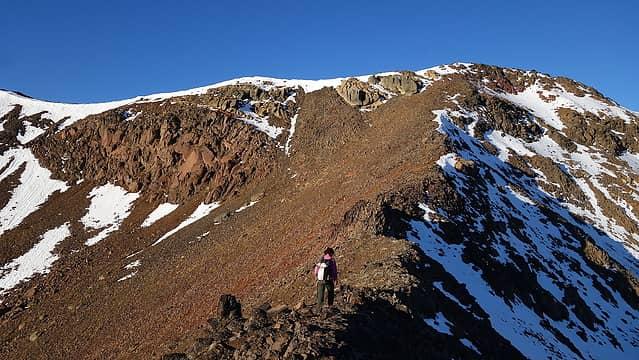 Easy ridge to Twin Peaks