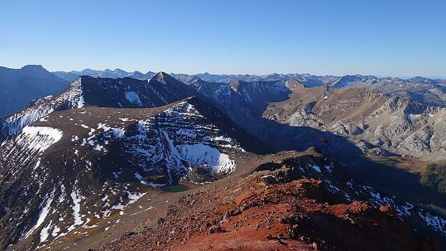 Hurricane Divide Ridge from lower south peak