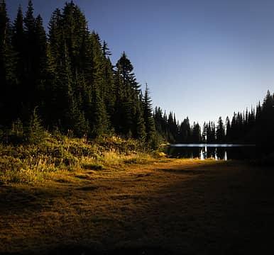 Sunset at Heart Lake last year.