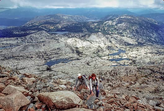1985, Pyramid Peak, South Lake Tahoe in the distance