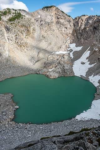 iron cap & lake