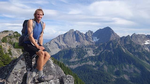 On the west ridge of Iron Cap