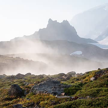Echo Rock and fog