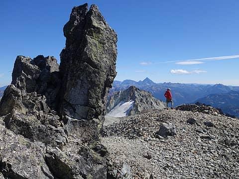Rock spire just below Daniel summit