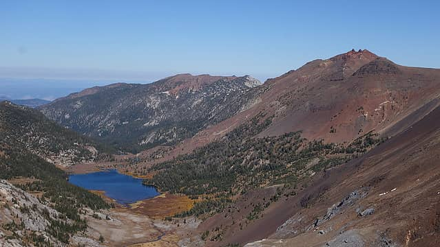 Frances Lake and Twin Peaks from Point 9280