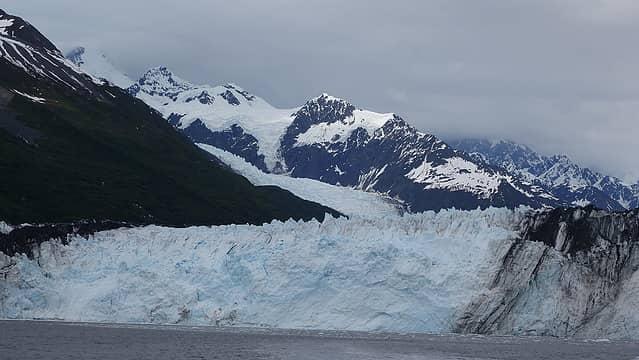 Marcus Baker seen high above the Harvard glacier