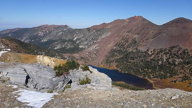 Twin Peaks across the valley