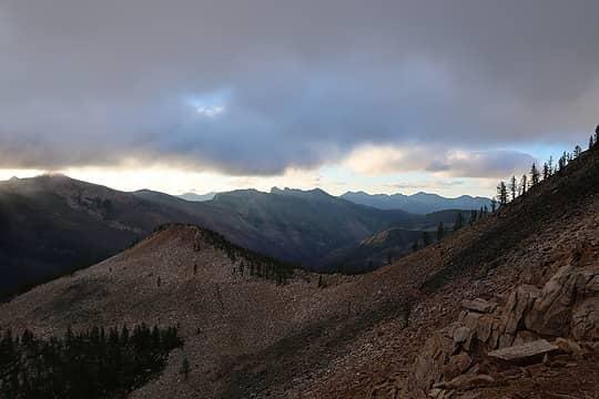 Three Pinnacles from near Shellrock Pass