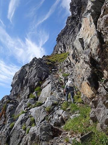 Ascending the long ramp