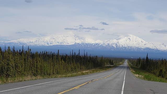 Mount Sanford on the left