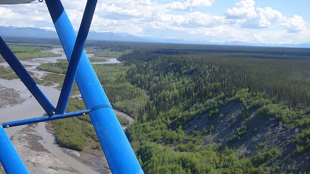 Flying over the Copper River
