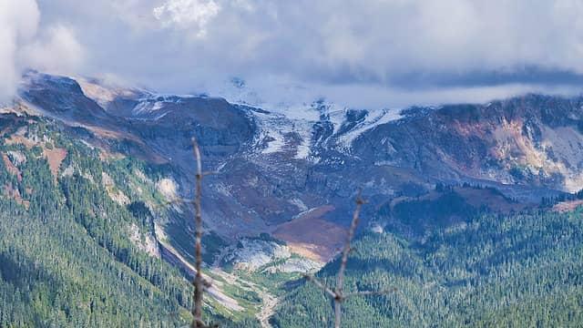 Tahoma Glacier terminus:Emerald Ridge