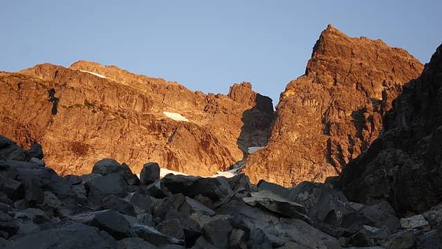 Sunrise on Chimney Rock