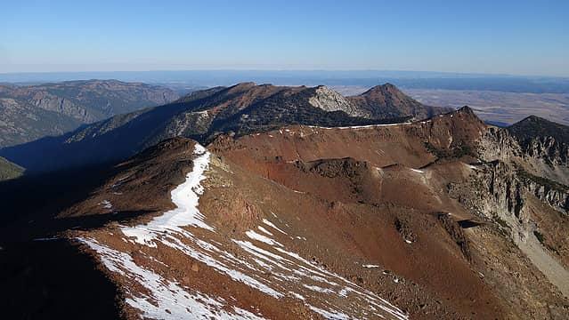 View down north ridge