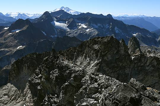 Glacier Peak behind Fortress and Chiwawa