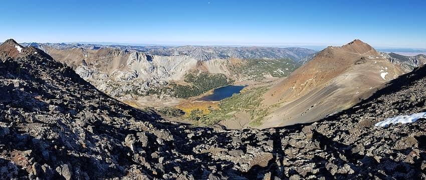 Panorama of Frances Lake basn