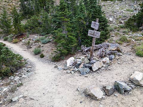 Longs Pass trail junction