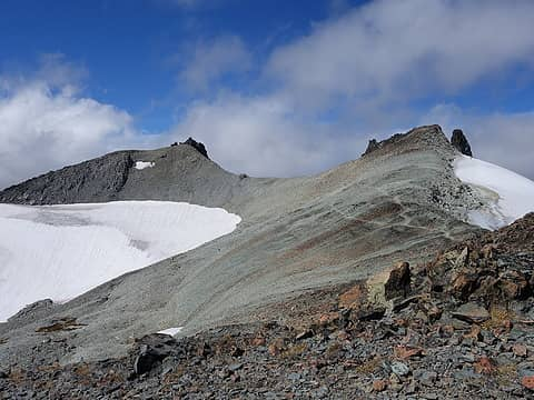 Mount Daniel (left) and Middle Daniel (right)
