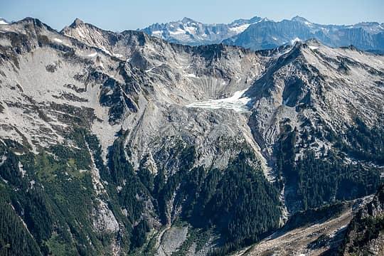 snowking melting glacier lake