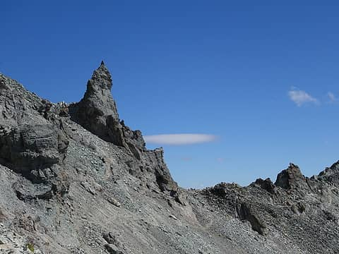 Another rock spire on the SE ridge