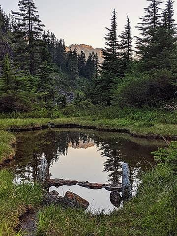 Reflection in Island Camp Tarn