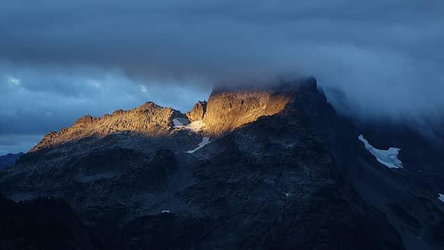 First light on Summit Chief Mountain