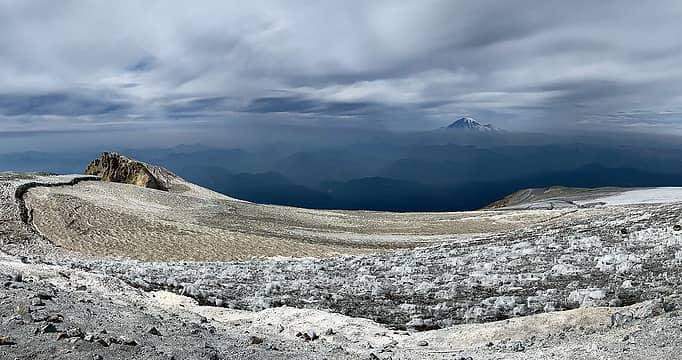 Rainier from near the summit marker.