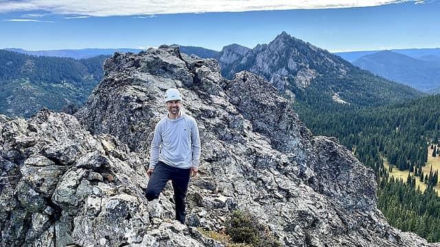 Benson on the summit