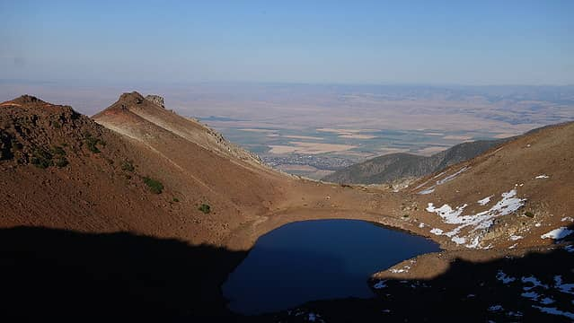 Legore Lake from the saddle