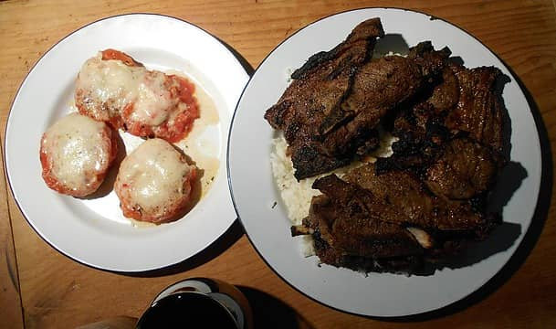 broiled lamb and tomatoes 091521