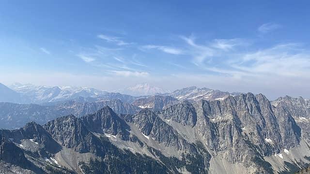 View of Glacier Peak as we gain altitude