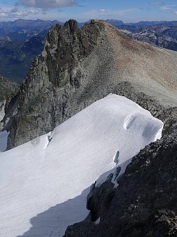 Saddle we ascended to on Lynch Glacier