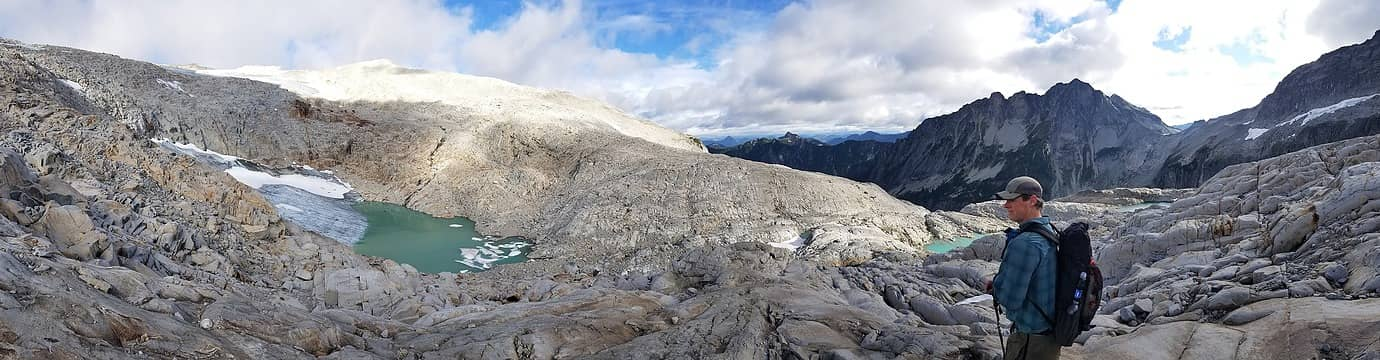 Panorama taken on our Hinman descent